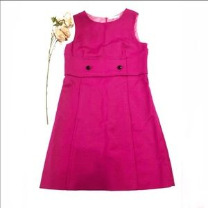 RED Valentino Hot Pink Button Detail Dress